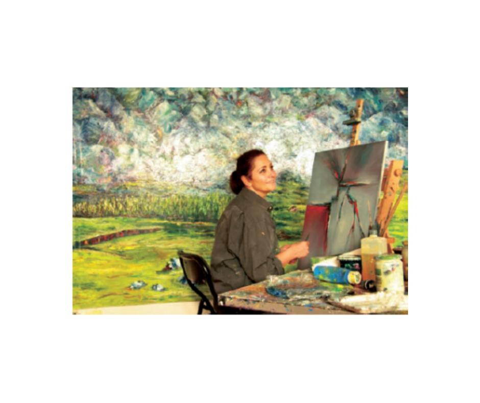 Kunst, die Farbe des Lebens.Malerin Serap Riedel im Interview
