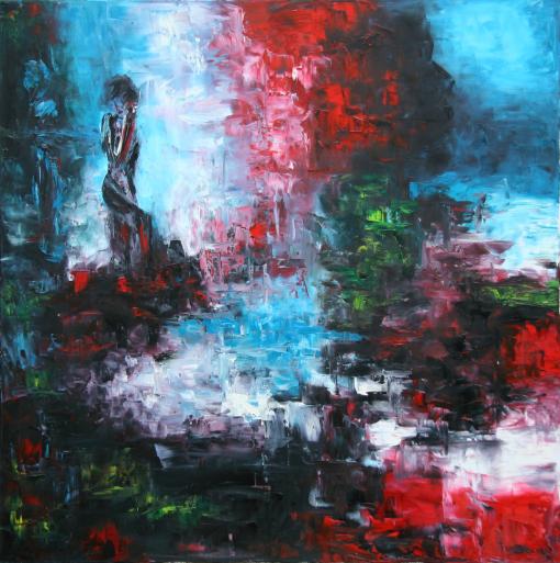 Ölgemälde der Malerin Serap Riedel
