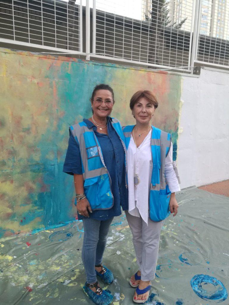 Ataşehir trifft auf Kunst & Künstler, Serap Riedel mit der Bezirksbürgermeisterin Leyla Yeşim Şaylan
