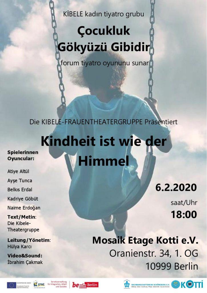 Veranstaltungsplakat des Berliner Kibele Frauenforumtheater