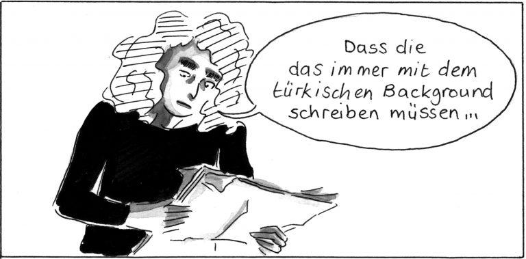 """Szenenauszug aus dem Buch """"Jein"""" von Büke Schwarz"""