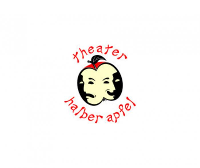 Logo Theater halber Apfel